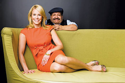 chelsea handler and andre balazs. debuts Andre Balazs,