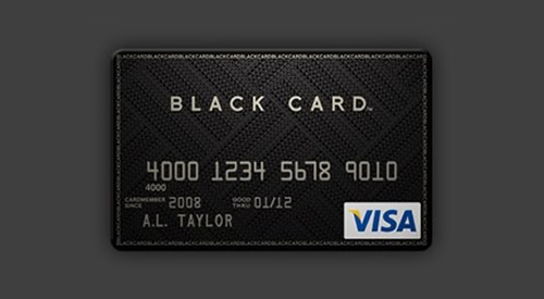 Black-card-visa