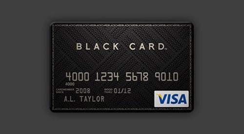 Black-card-visa