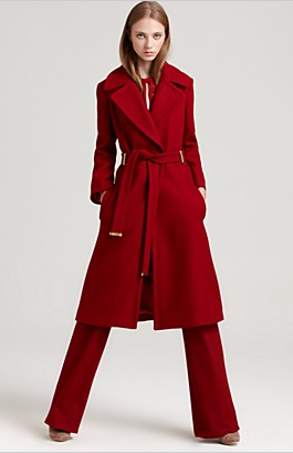 Long Red Coat - Coat Nj