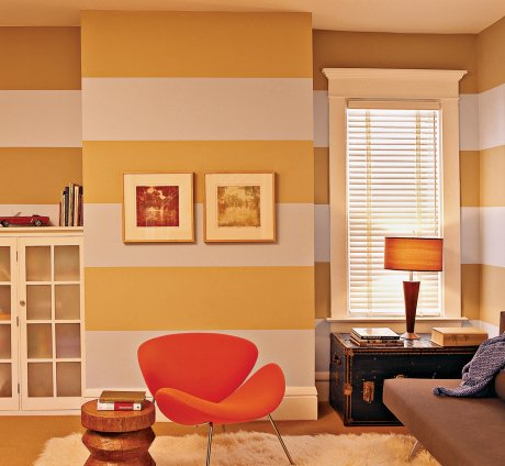 striped living room walls touch up painting etc 15740