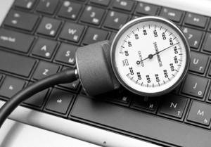 Blood-pressure-gauge-on-keyboard-300x209