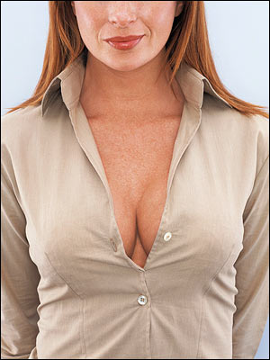 Cleavage-at-the-office