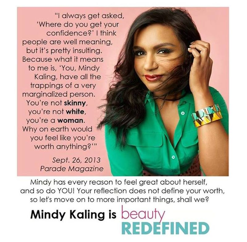 Mindy-kaling-quote-confidence-beauty-redefined