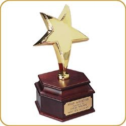 S432_electroplated_gold_star_wooden