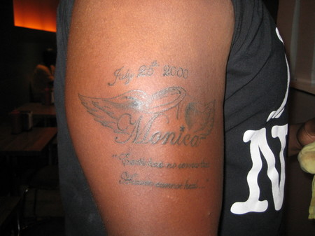 This guys's tattoo is a tribute to his Grandmother: